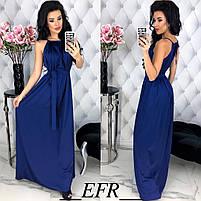 Женское длинное красивое платье с поясом, фото 3