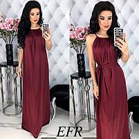 Женское длинное красивое платье с поясом, фото 6