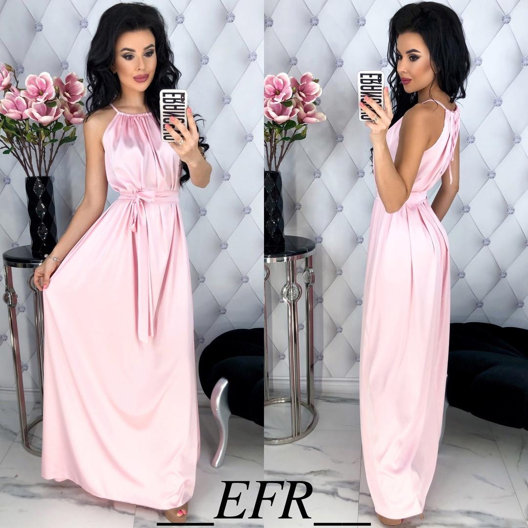 Женское красивое платье с поясом