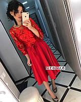 Женское красивое платье с кружевом, фото 3