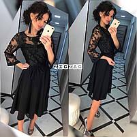 Женское красивое платье с кружевом, фото 4