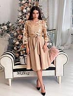 Платье миди с кружевом, фото 4