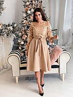 Платье миди с кружевом, фото 3
