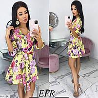 Женский красивое платье в цветочек, фото 3