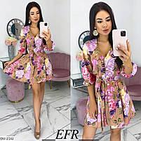 Женский красивое платье в цветочек, фото 4