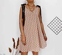 Женское стильное платье на завязках, фото 3
