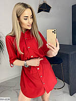 Женское стильное платье-рубашка, фото 2