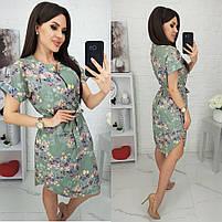 Женское красивое платье с цветочными принтами, фото 2