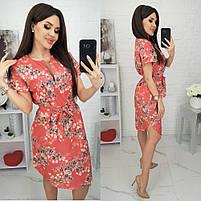 Женское красивое платье с цветочными принтами, фото 3