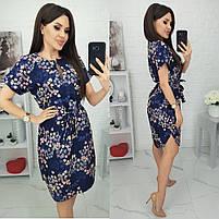 Женское красивое платье с цветочными принтами, фото 4
