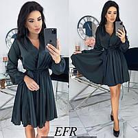 Женское атласное платье ,шелковое платье, фото 3