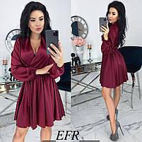 Женское атласное платье ,шелковое платье, фото 4