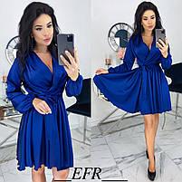 Женское атласное платье ,шелковое платье, фото 5