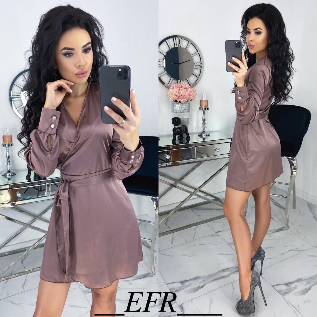 Женское атласное платье ,шелковое платье