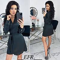 Женское атласное платье ,шелковое платье, фото 2