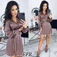 Женское атласное платье ,шелковое платье, фото 7