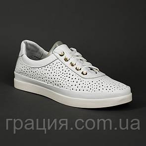 Женские мягкие кожаные туфли на шнуровке
