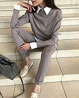 Женский стильный брючный костюм, фото 3
