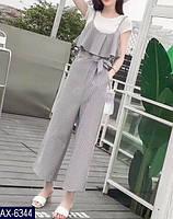 Женский комбинезон в полоску с футболкой в комплекте, фото 2