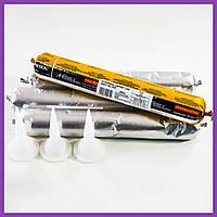Герметик полиуретановый 600 мл для кровли Baugum Super Adhesive серый, герметик ПУ