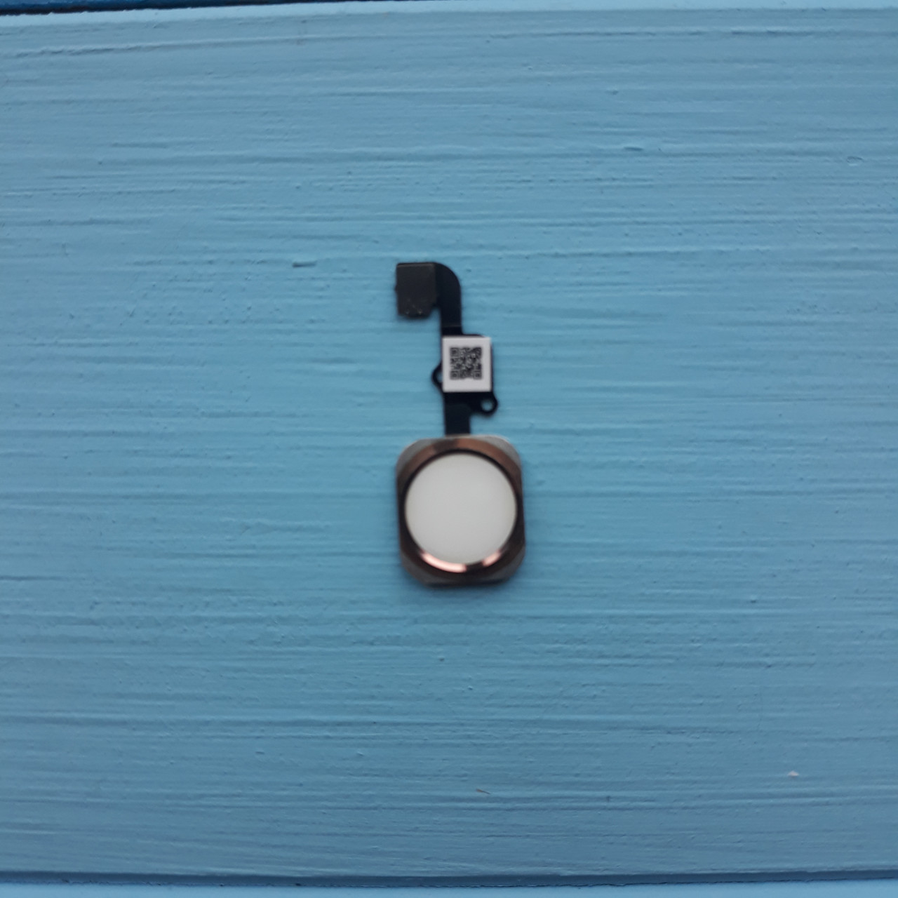 Шлейф Apple iPhone 6S, 6S Plus кнопки HOME с пластиком Rose Gold