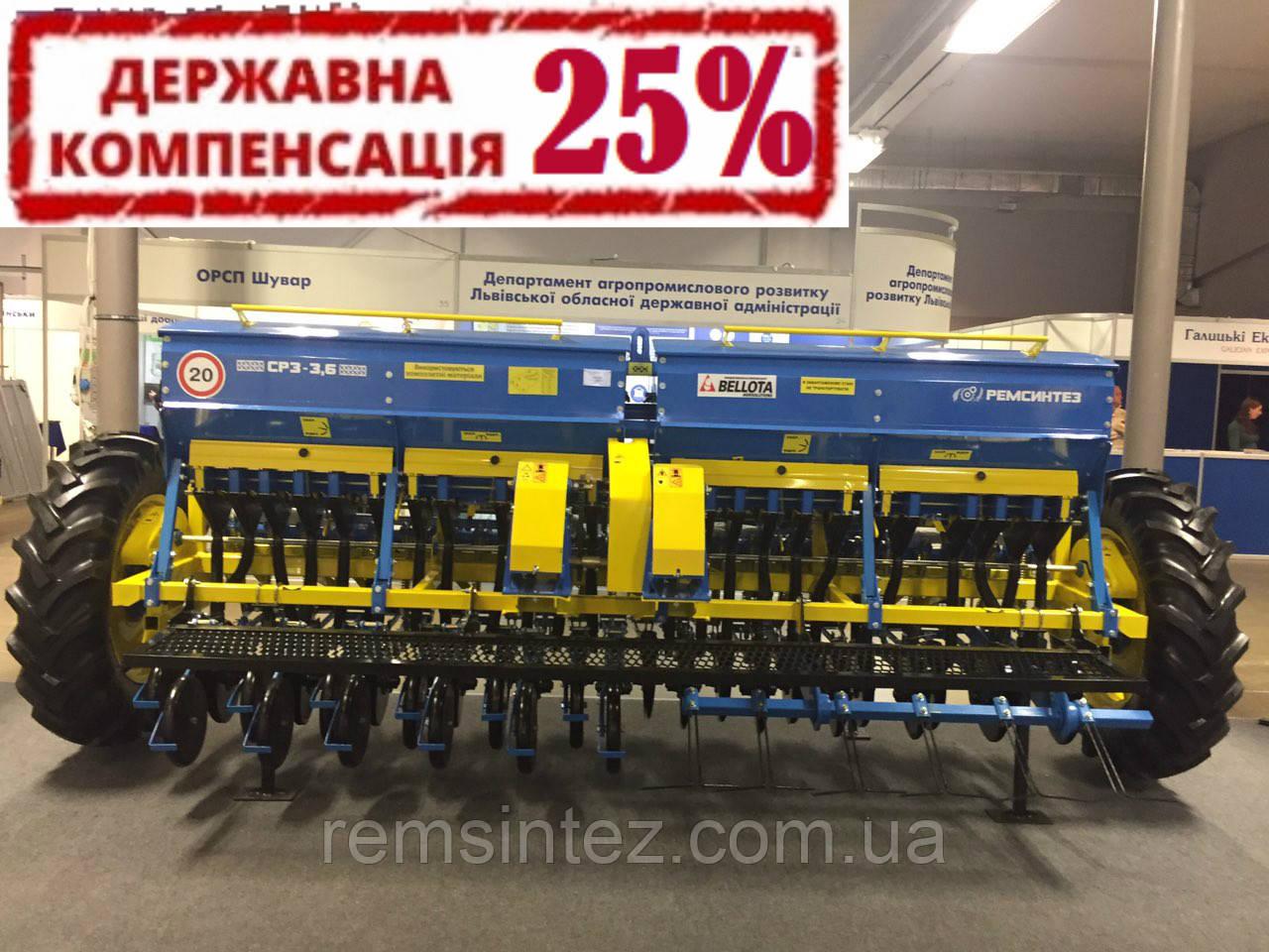 Сеялка зерновая СЗ (СРЗ) 3,6-02 (независимый поводок, диски Bellota, прикатывающие катки)