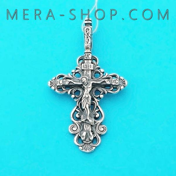 Серебряный православный крест, нательный крестик из серебра 925 пробы (38 х 21 мм, 3 г)