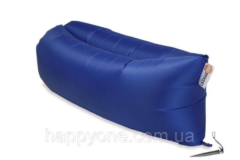 Надувной шезлонг (лежак) Standart (синий)
