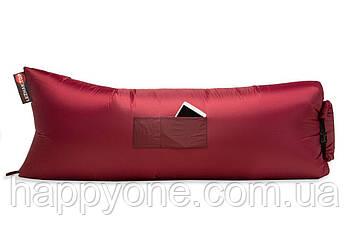 Надувной шезлонг (лежак) Standart (бордовый)