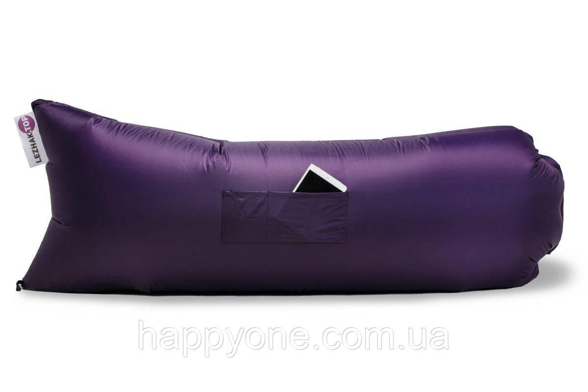 Надувний шезлонг (лежак) Standart (фіолетовий)