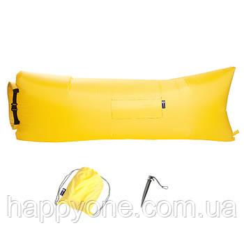 Надувной шезлонг (лежак) Standart (желтый)