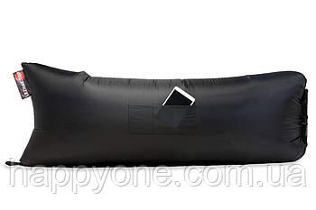 Надувной шезлонг (лежак) Standart (черный)