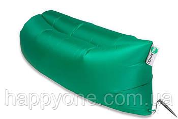 Надувной шезлонг-лежак RipStop (зеленый)