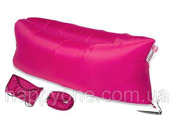 Надувной шезлонг-лежак RipStop (розовый)