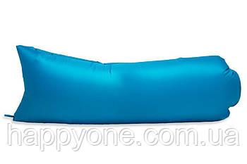 Надувной шезлонг (лежак) Light (голубой)
