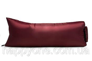 Надувной шезлонг (лежак) Light (бордовый)