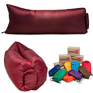 Надувной шезлонг (лежак) Light (бордовый), фото 2