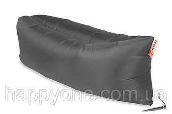 Надувной шезлонг-лежак RipStop (серый)
