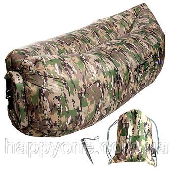 Надувной шезлонг-лежак RipStop (камуфляжный)