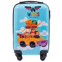 Чемодан детский Wings Машинка Голубой (310002215)