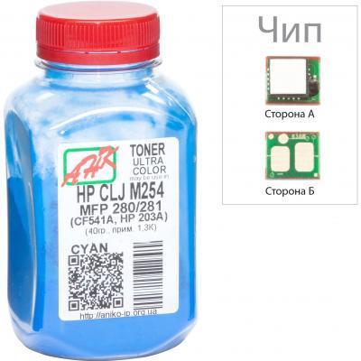 Тонер HP CLJ Pro M452/477, +Apex chip, 100г Cyan AHK (3203128)