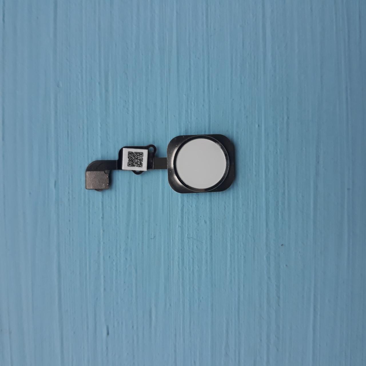 Шлейф Apple iPhone 6S, 6S Plus кнопки HOME с пластиком Silver