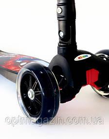 """Самокат Scooter 21st 403 MZ-1 Maxi со складной ручкой """"Спайдермен"""" Spider-man, фото 2"""
