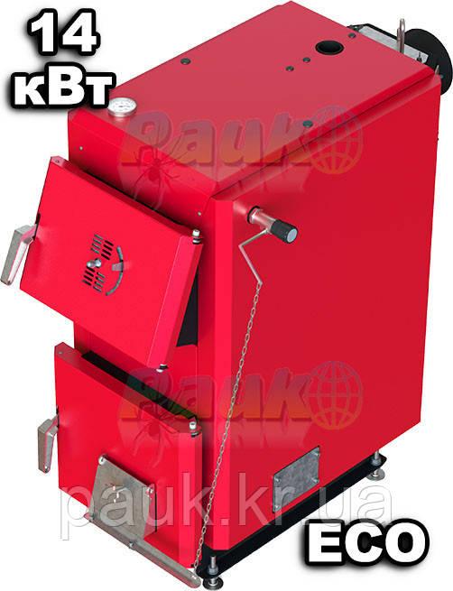 Твердотопливный котел 14 кВт Сторхауз, котел длительного горения SHKTH-14 ECO