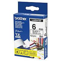 Стрічка для принтера етикеток Brother TZE211