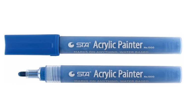 Маркер акриловий STA 1000 2-3 мм, Napoleon синій, фото 2