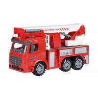 Спецтехника Same Toy инерционная Truck Пожарная машина с подъемным краном (98-617Ut)