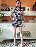 Женский летний комбинезон в горошек без рукава с шортами vN8214, фото 2