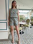 Женский летний комбинезон в горошек без рукава с шортами vN8214, фото 5