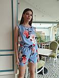 Женский летний комбинезон в горошек без рукава с шортами vN8214, фото 6